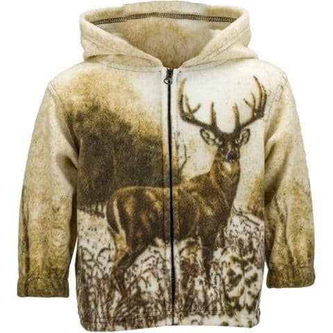 Toddlers' Fleece Animal Hoodie - Whitetail Deer - Wildkind
