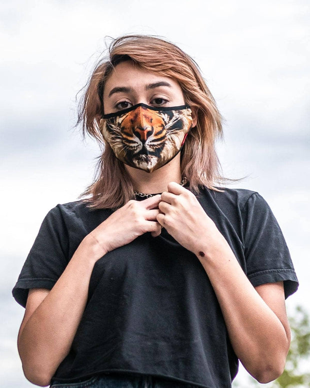 Animal Print Protective Reusable Face Mask - Savage Tiger - Wildkind