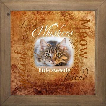 Cat Frame Brown (12X12)