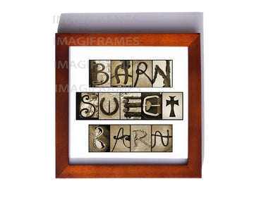 Barn Sweet Brown Frame (5X5)