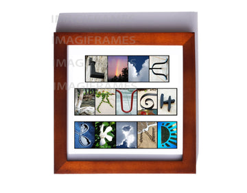 Live Laugh Bkind Brown Frame (5X5)
