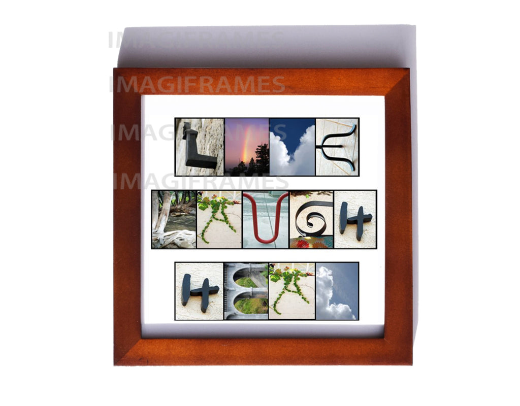 Live Laugh Heal Brown Frame (5X5)