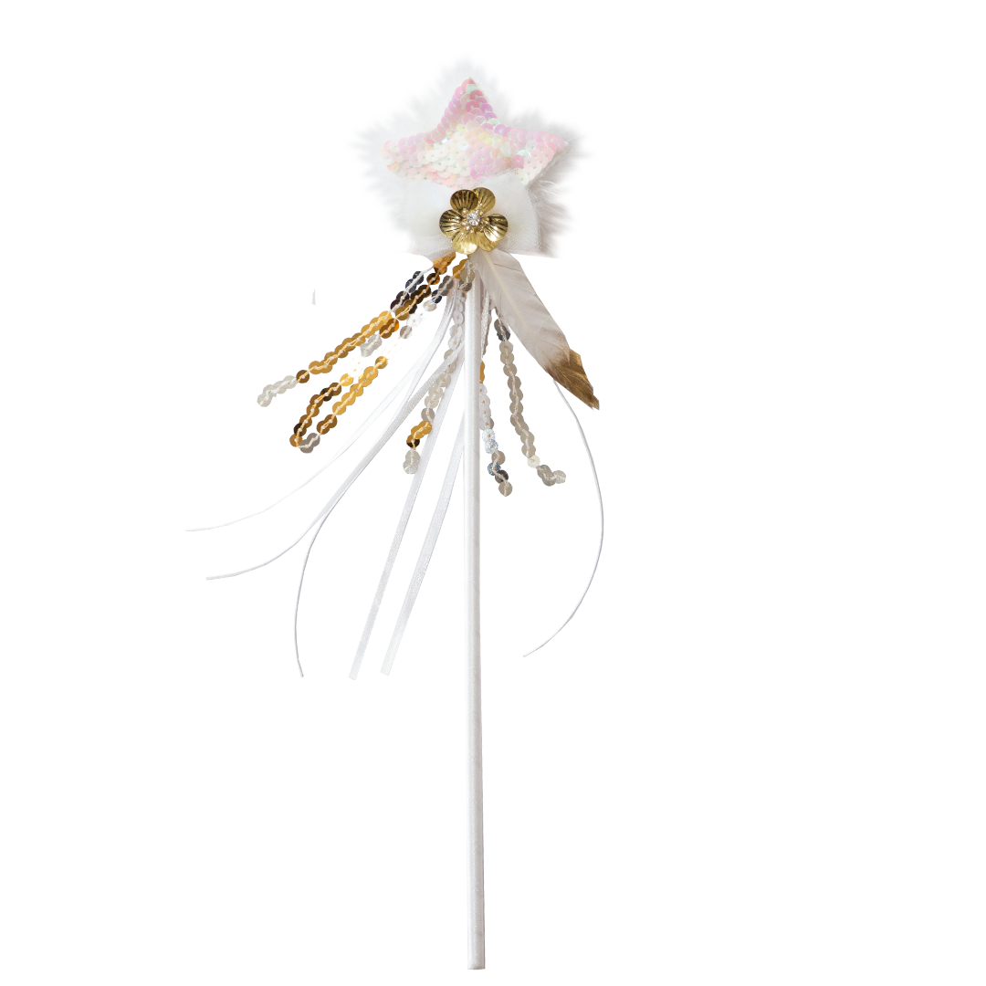 WISH UPON A STAR FAIRY WAND ~ Gold
