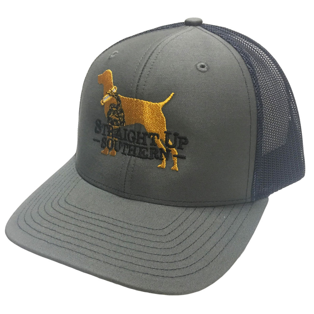 Snake Dog Grey Navy Richardson Mesh Hat - 15735