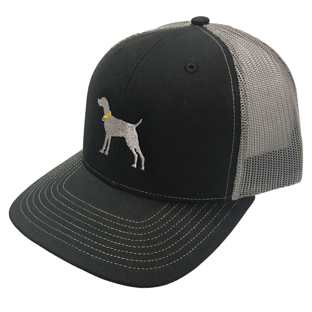 Dog Logo Black Grey Richardson Mesh Hat - 15739