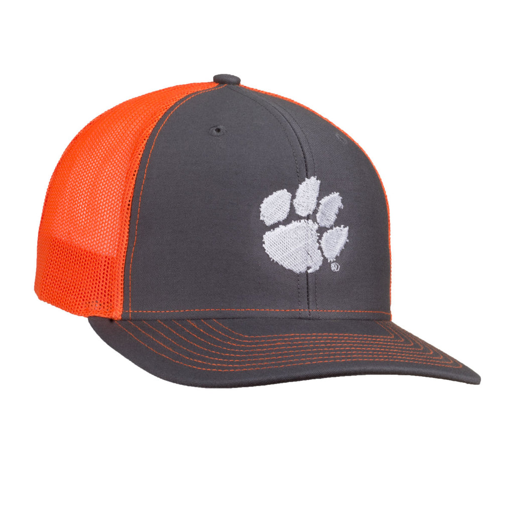 Paw Logo - Richardson Mesh Hat - Charcoal/Orange - 15882