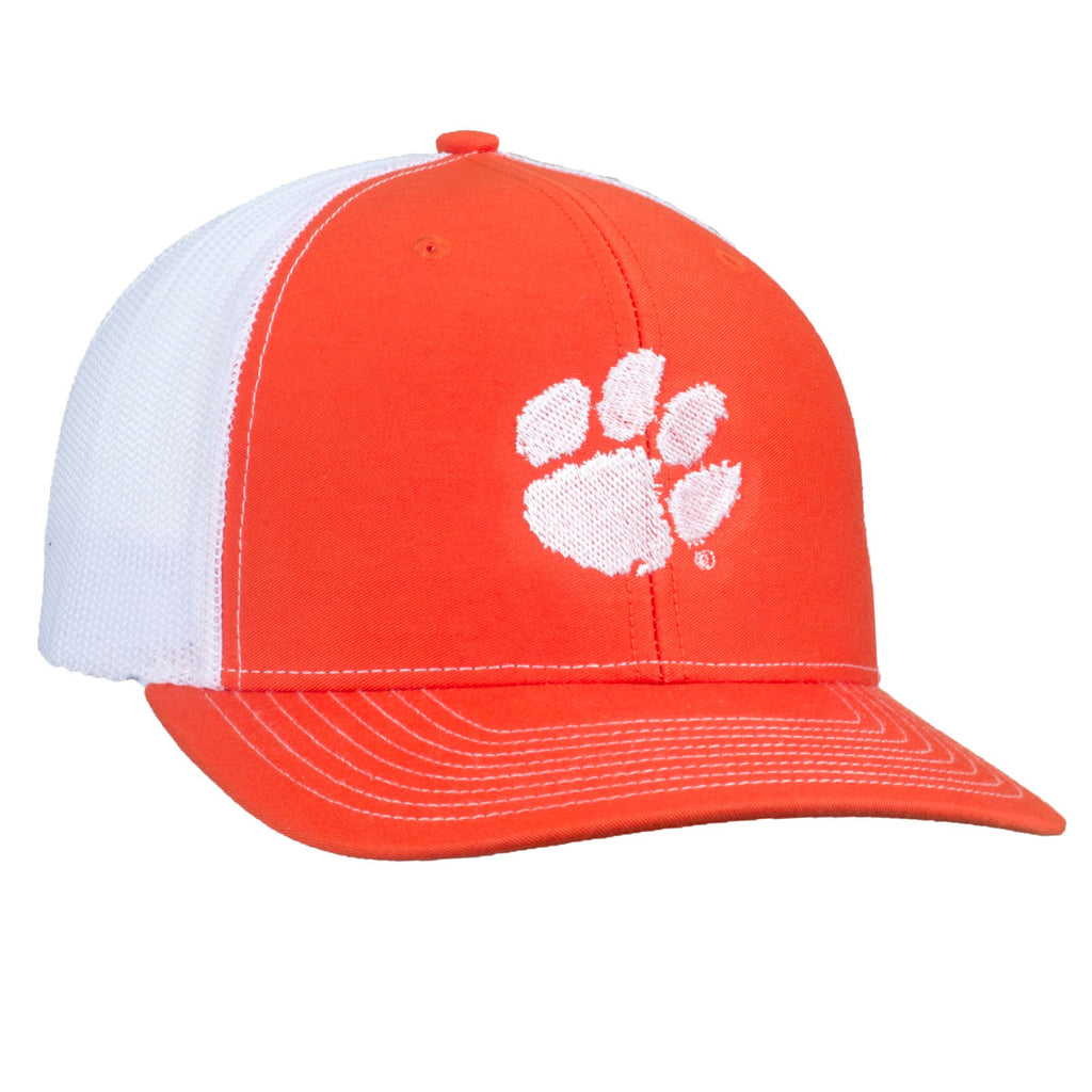 Paw Logo - Mesh Hat - Orange/White - 15883