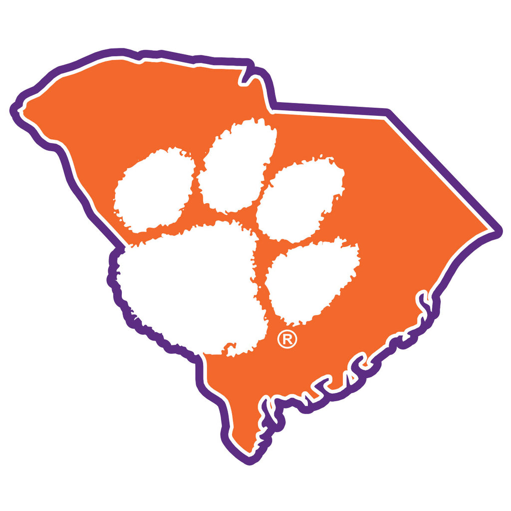 Clemson Logo State Decal - 15900