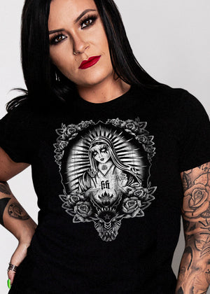BLACK MARIA WOMEN'S  T-SHIRT