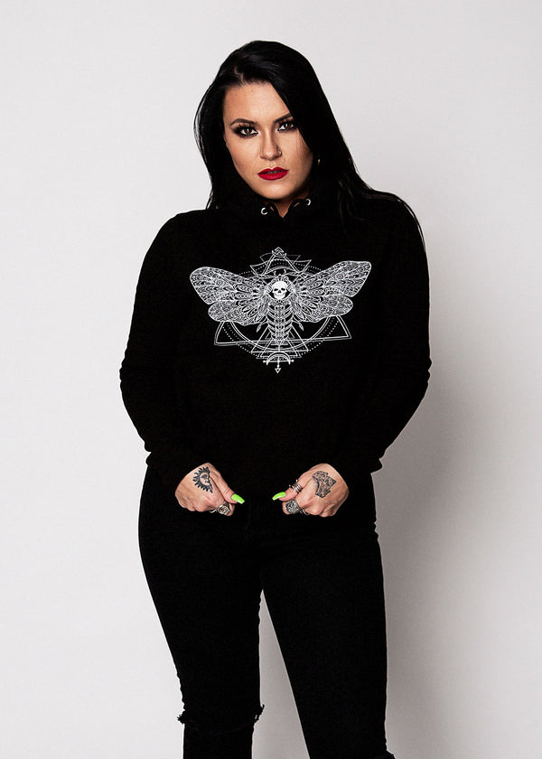 Heathen+Heretic Death's Head Women's Hoodie - Black
