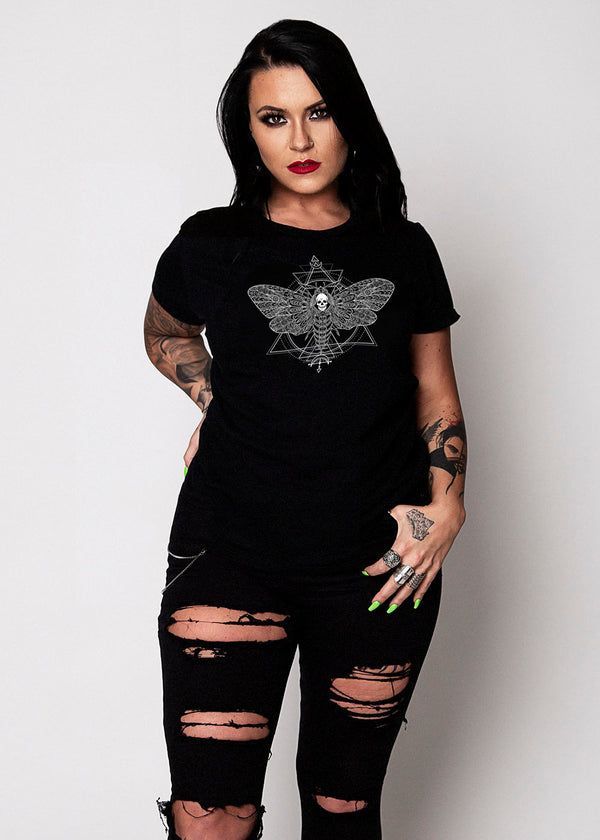 Heathen+Heretic Women's Death's Head T-Shirt - Black