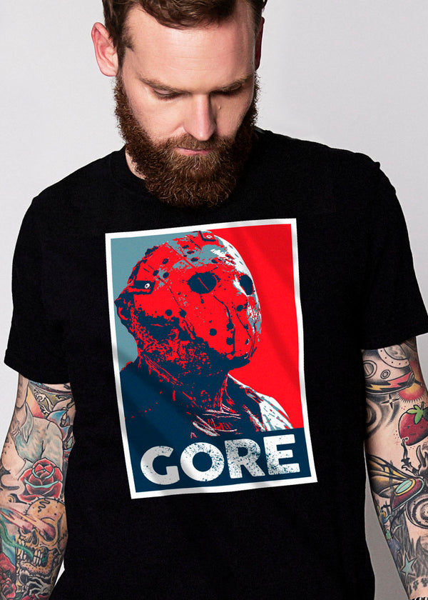 Heathen+Heretic Mens XL print Gore Tee - Black