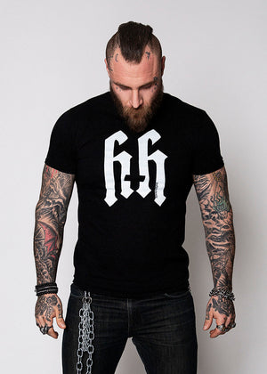 Heathen+Heretic Unisex Logo T-Shirt - Black