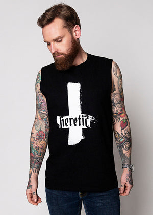Heathen+Heretic Heretic Cross Men's Tank - Black