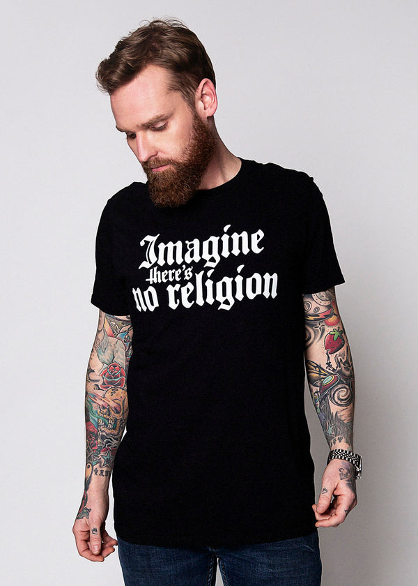 Heathen+Heretic Men's No Religion T-Shirt – Black
