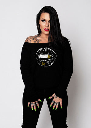 Heathen+Heretic Kiss Of Death Sweatshirt - Black