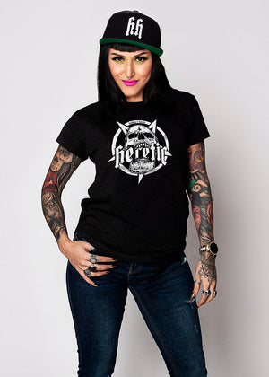 Heathen+Heretic Women's Pentaskull T-Shirt - Black