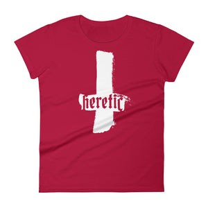 Heathen+Heretic Women's Heretic Cross T-Shirt - Red