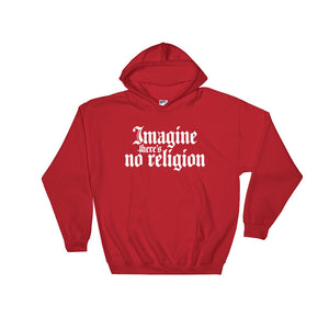 Heathen+Heretic Unisex No Religion Hoodie - Red