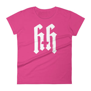 Heathen+Heretic Logo Women's T-shirt - Pink