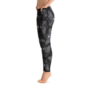 DEATH'S HEAD All Over Print Leggings