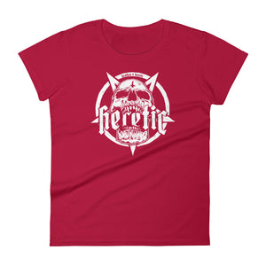 Heathen+Heretic Women's Pentaskull T-Shirt - Red