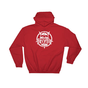 Heathen+Heretic Pentaskull And Logo Mens Hoodie - Red