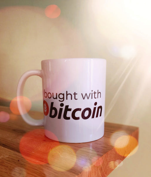 bought with bitcoin mug
