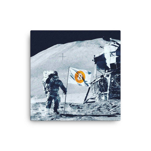 bitcoin moon on canvas