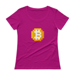 8-bitcoin women's scoopneck t-shirt