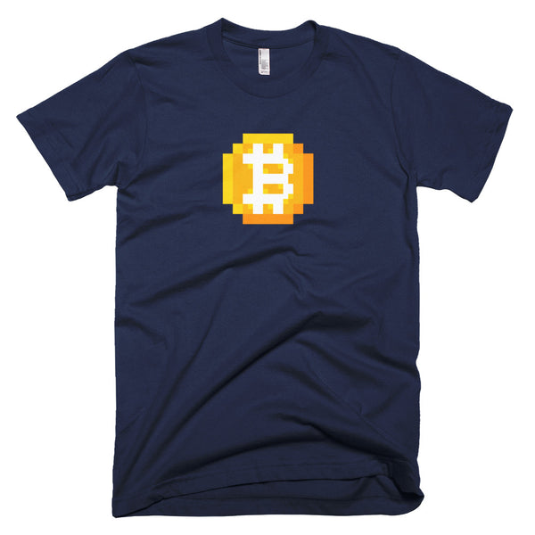 8-bitcoin short-sleeve t-shirt