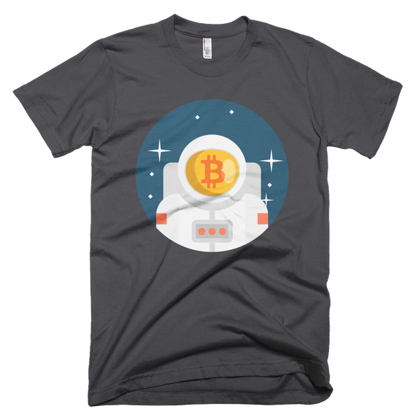 bitcoin austronaut short-sleeve t-shirt