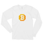 8-bitcoin unisex long sleeve t-shirt
