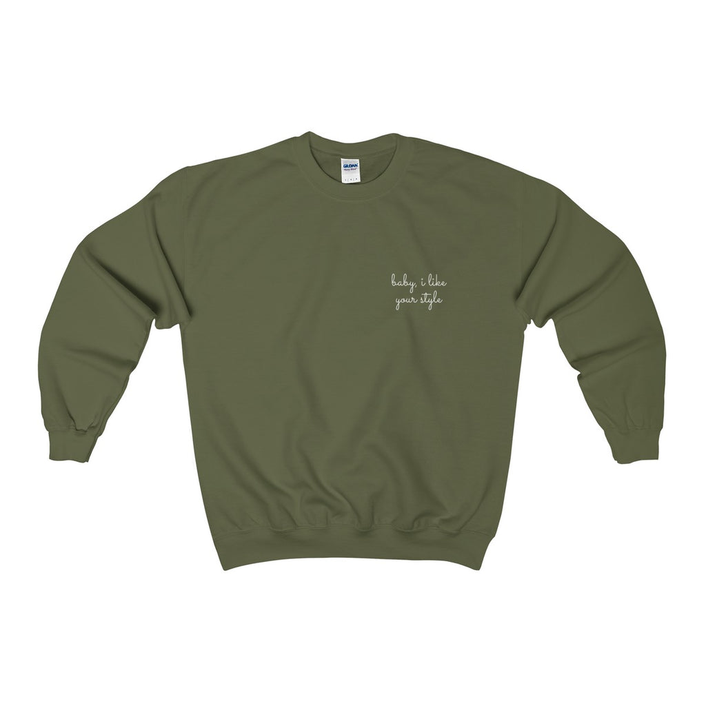 baby, i like your style sweatshirt heroine Apparel drake champagne papi lyrics 6god legend toronto streetwear one dance