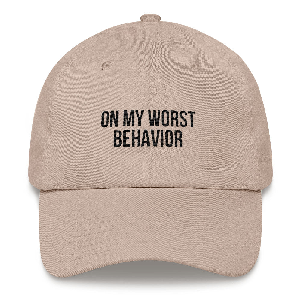 on my worst behavior drake drizzy ovosound toronto 6god streetstyle streetwear dad hat designed in paris
