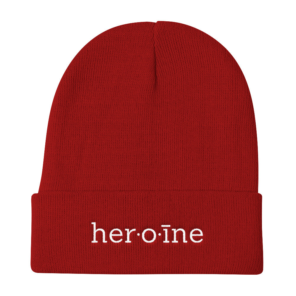 heroine apparel beanie hat winter time cosy warm made me do it