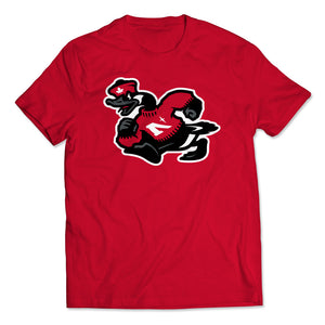 Noble North - Goose Mascot - Red Unisex T-Shirt - Front