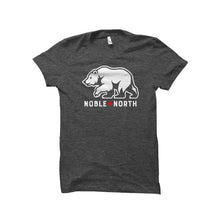 Noble North - Bear Explorer - Charcoal Heather T-Shirt - Front