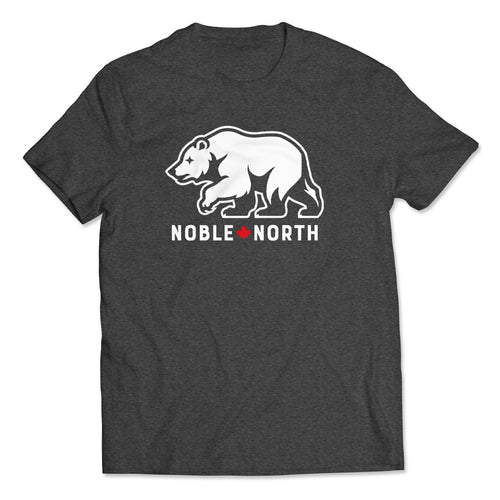 Noble North - Bear Explorer - Charcoal Heather Tee - Front