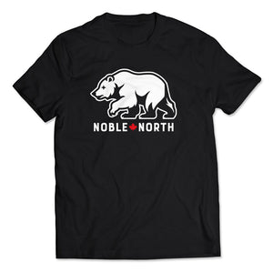 Noble North - Bear Explorer - Black Tee - Front