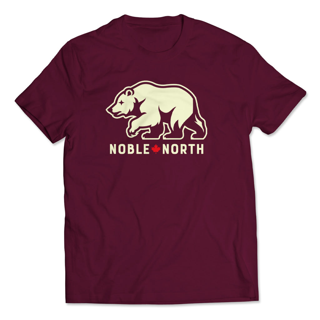 Noble North - Bear Explorer - Maroon Tee