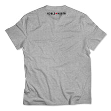 Load image into Gallery viewer, North Star - Left Chest - Grey Heather Tee - Back