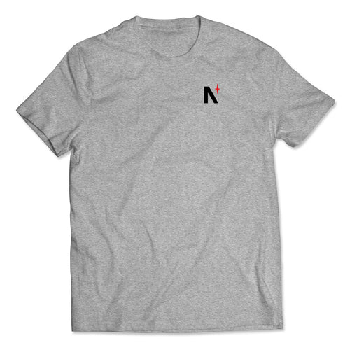 North Star - Left Chest - Grey Heather Tee - Back