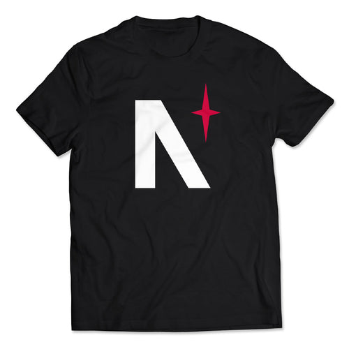 Noble North - North Star - Black Tee - Front