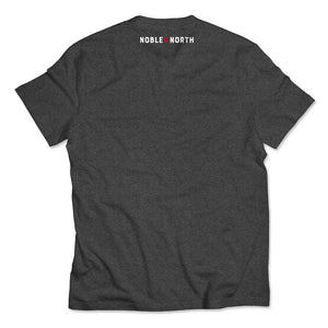 Noble North - North Star - Charcoal Heather Tee - Back