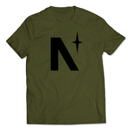 North Star - Olive Green Tee - Front