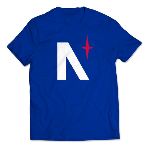 Noble North - North Star - Royal Blue Tee - Front