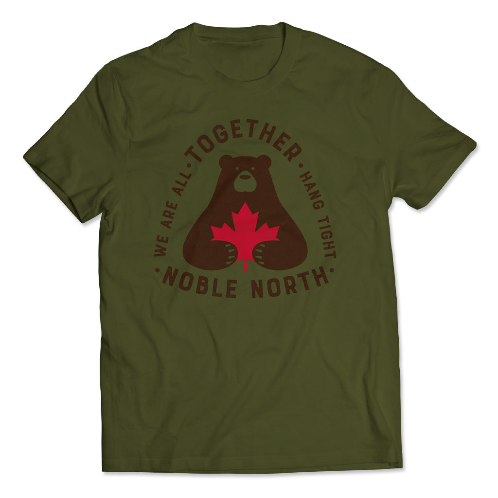 Noble North - Together Bear - Olive Green Unisex T-Shirt