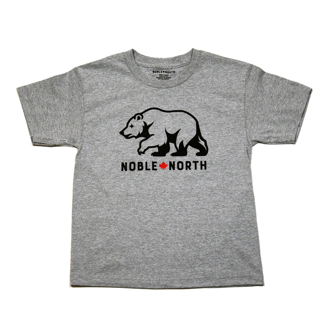 Bear Explorer - Grey Heather Youth Tee