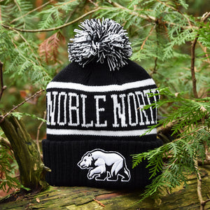 Noble North - Bear Explorer - Black Pom Toque - Front